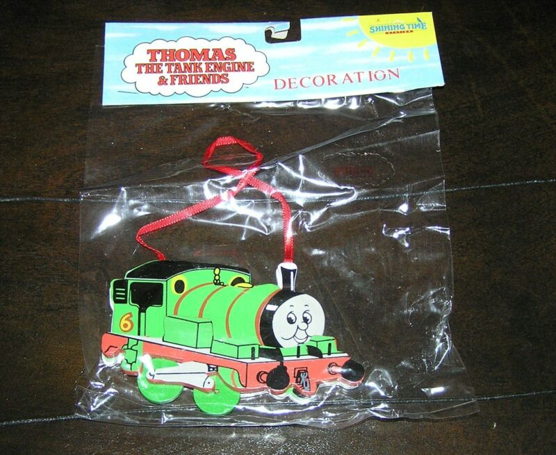 NIP NEW Rare Thomas the Tank Engine Train Wooden Christmas Tree Ornament Percy