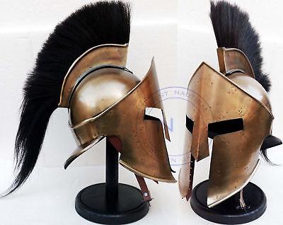 Medieval Viking Black Plum Spartan King Leonidas 300 Movie Armour Helmet Costume