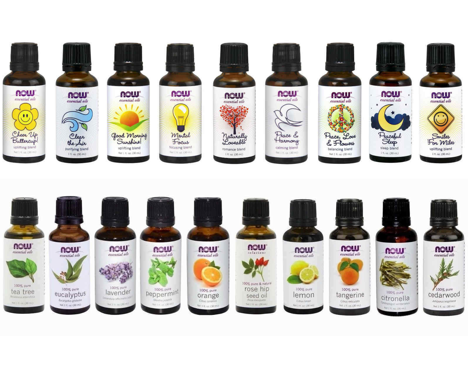 как выглядит NOW Foods 1 oz Essential Oils and Oil Blends Your Choice - FREE SHIPPING фото