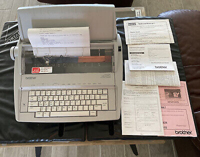 Brother Correctronic Gx-6750 Electronic Word Processor Typewriter Mint W Extras