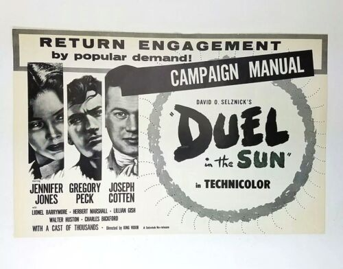 Duel In The Sun Jennifer Jones Gregory Peck Re-Release Movie Campaign Manual