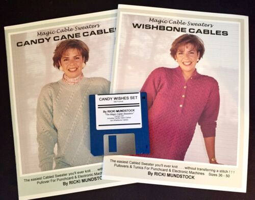 MAGIC CANDY CANE & WISHBONE CABLES w/ BROTHER DISK COMBO SET by Ricki Mundstock