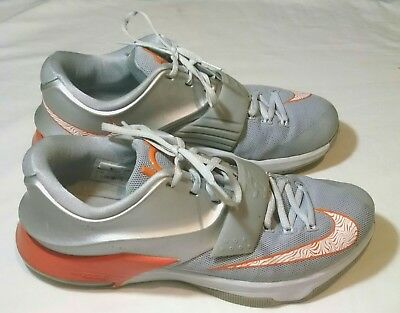 d7fb5920224 Nike Zoom KD VII Texas Longhorns Men s 11.5 Basketball Silver Grey Orange  Shoes