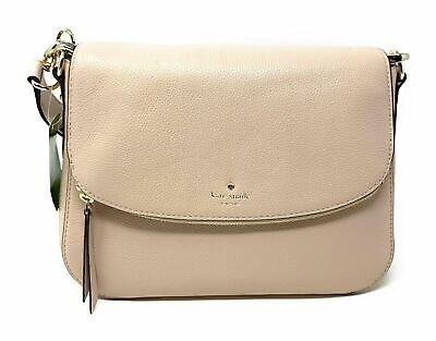 Kate Spade Larchmont Avenue Mackenzie Warm Beige Leather Crossbody Bag