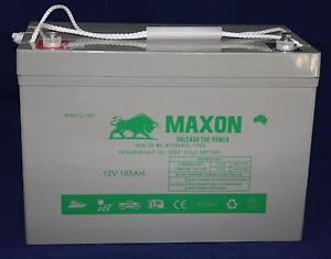Maxon 105Ah GEL Battery 2YR Warranty Camping 4WD Solar Acacia Ridge Brisbane South West Preview