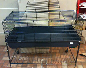 Indoor Rabbit Guinea Pig Cage Hutch + Stand 120cm FREE Litter Tray and Bottle !