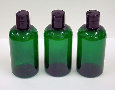 8 Oz Green Boston Round Plastic Pet Bottles Wdispensing Cap