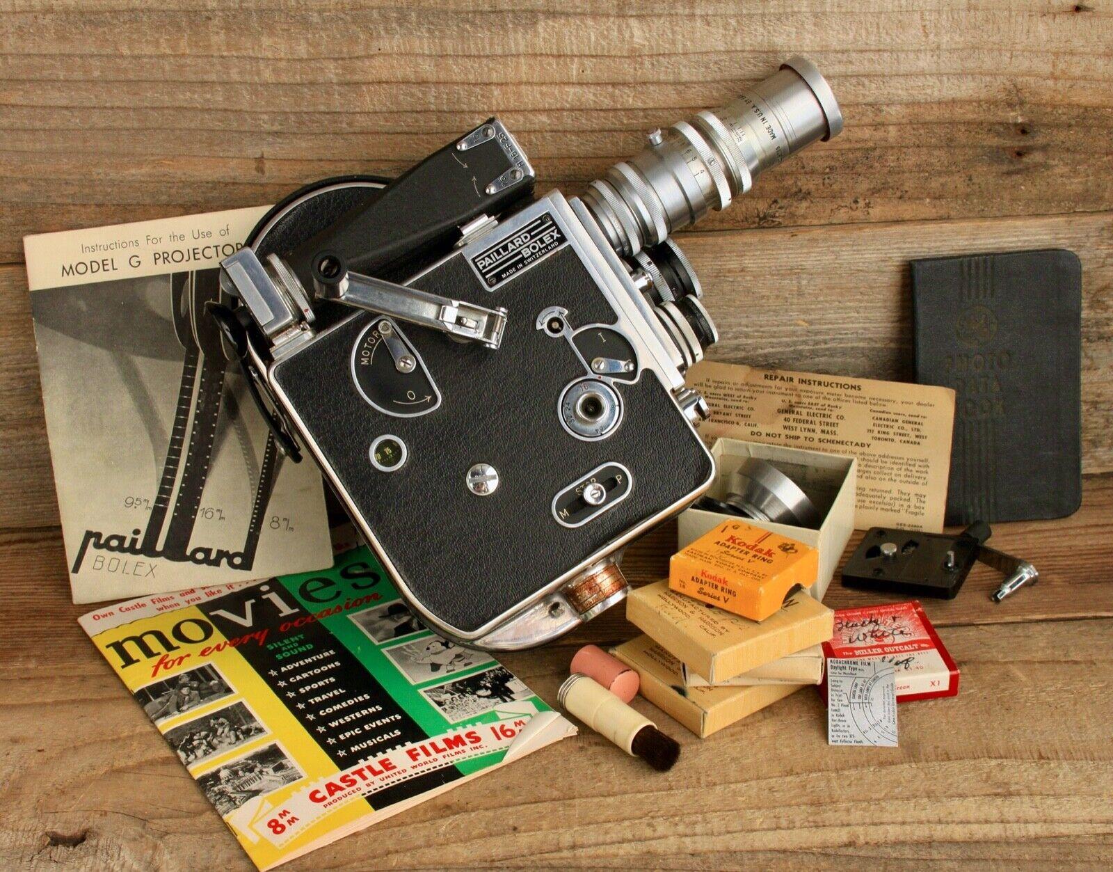 Vintage Pallard Bolex H-16mm Movie Camera  - $455.00