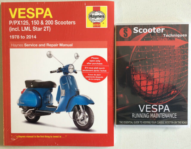 Vespa P/PX/T5  LML Star 125, 150 & 200 with The Vespa Running Maintenance DVD