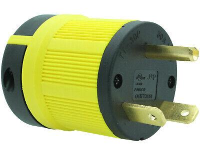 Nema Tt-30p Male Plug Replacement Cord Connector Heavy Duty Rv Generator Tt30p