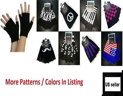 Unisex Men Woman Winter Warm Fingerless Gloves Half Finger Knit Mittens (Knitted Fingerless Gloves)
