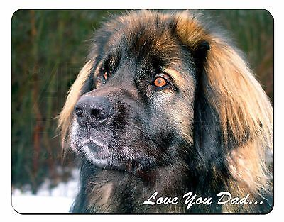 Leonberger Dog 'Love You Dad' Computer Mouse Mat Christmas Gift Idea, DAD-68M