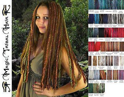 DREAD FALLS 5 clip ins DREADLOCKS EXTENSIONS 100-120 ! yarn dreads MANY COLORS!](Clip In Dreadlock Hair Extensions)