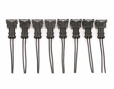 8 Fuel Injector Connector Wiring Plugs Clips Fit  EV1 OBD1 Pigtail Cut & Splice