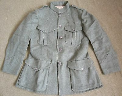 WWI US USMC MARINE P1917 FIELD TUNIC,FOREST GREEN WOOL-LARGE