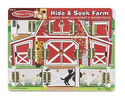 Melissa  Doug Hide and Seek Farm Wooden Activity Board With Barnyard Animal