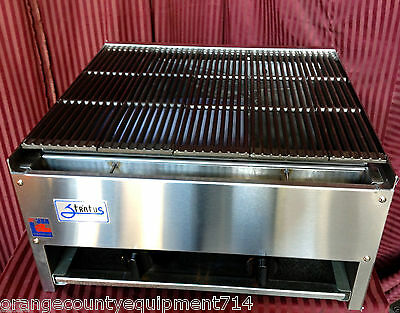 New 24 Lava Rock Char Broiler Gas Grill Stratus Scb-24 1120 Commercial Nsf Usa