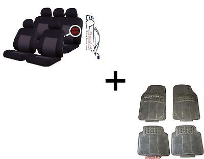 EALING TRADITIONAL UNIVERSAL CAR SEAT COVERS PROTECTORS  MATCHING RUBBER MATS