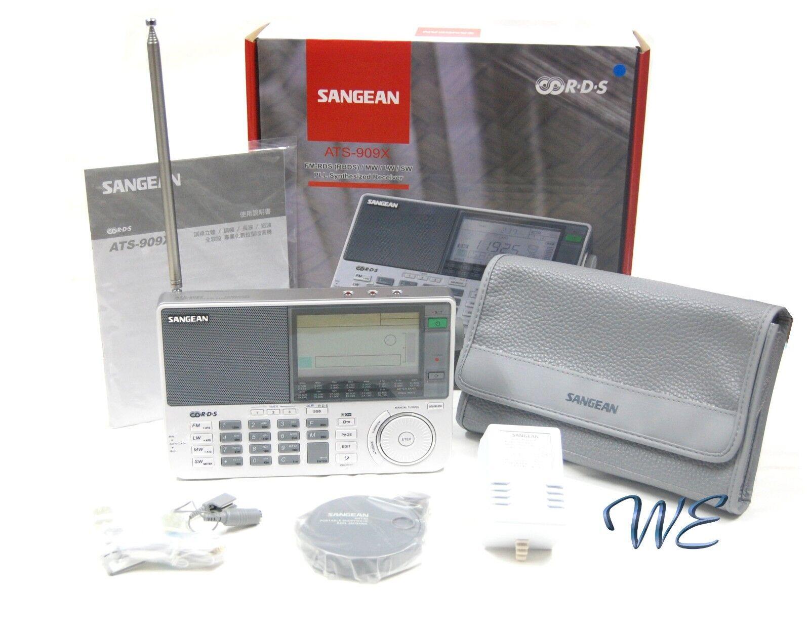 Sangean ATS-909X Shortwave FM 64-108/MW/LW/SW PLL Radio w/Ea