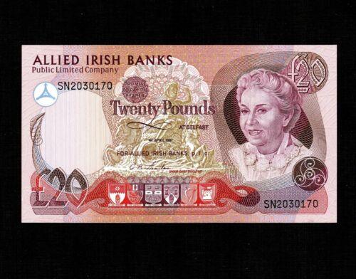Northern Ireland 20 Pounds 1987 P-8b * Unc *