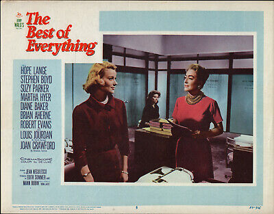 THE BEST OF EVERYTHING orig 1959 lobby card JOAN CRAWFORD/HOPE LANGE/SUZY (Joan Crawford The Best Of Everything)