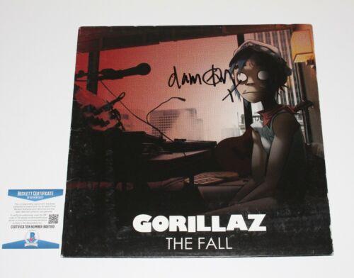 GORILLAZ DAMON ALBARN SIGNED THE FALL ALBUM VINYL RECORD LP BECKETT COA BAS