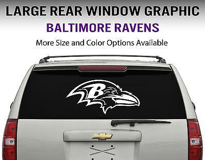 Baltimore Ravens Window Decal Graphic Sticker Car Truck SUV - Choose Size Baltimore Ravens Window Decals