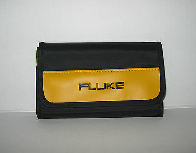 "New FLUKE  Accessory Storage Case EMPTY CASE ONLY 7"" Wide 4 Pouches"