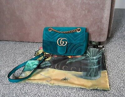 Genuine GUCCI GG Marmont Mini Velvet Shoulder bag
