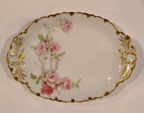 "Haviland & Co Limoges for Frank Empsall ~ 11.5"" Oval Platter ~ Baltimore Rose MG"
