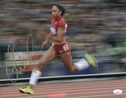 ALLYSON FELIX Signed OLYMPIC TRACK STAR 11x14 Photo In Person Autograph JSA COA