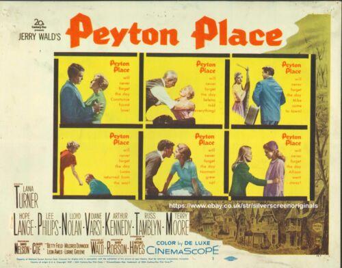 Peyton Place ORIGINAL US Lobby Title Card Lana Turner 1957