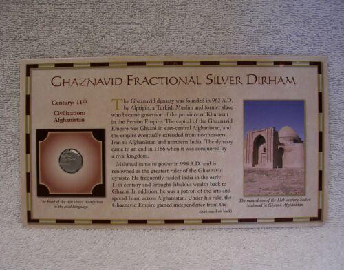 Ghaznavid Fractional Silver Dirham Coin - 11th Century  Circa 926-1186 A.D.