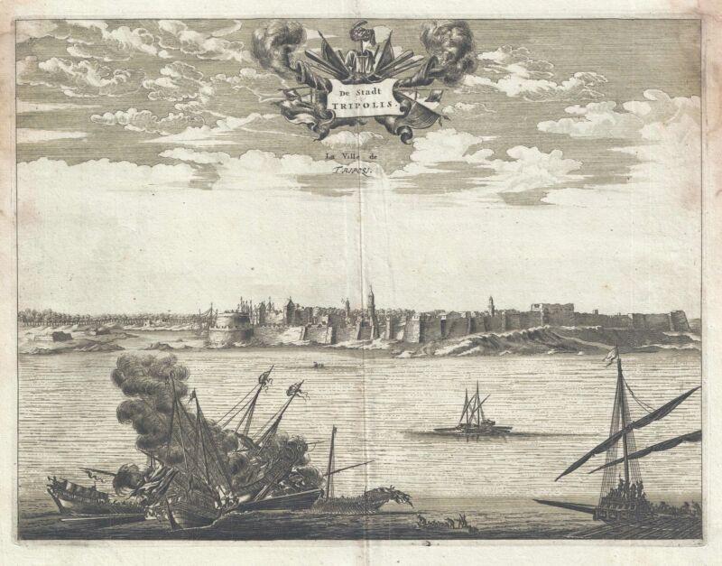 1686 Dapper View of Tripoli, Libya