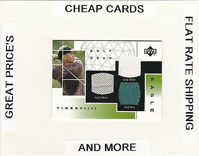 2003 UPPER DECK Golf Gear Eagle Event Used Swatches TIGER WOODS BV $250