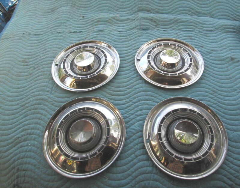 """Vintage 1959 CHRYSLER WINDSOR,SARATOGA 14"""" HubCaps Hub Cap Set/4 VG Condition B"""