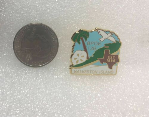 BPOE Elks #126 Galveston Island Texas Pin