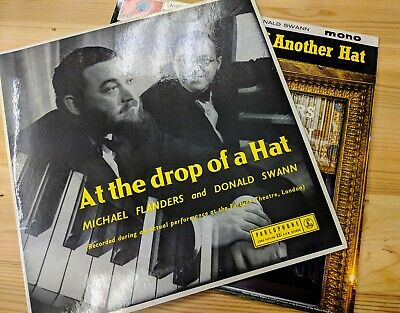 """12"""" MICHAEL FLANDERS & DONALD SWAN """"AT THE DROP OF A HAT"""" (& ANOTHER HAT) EX-"""