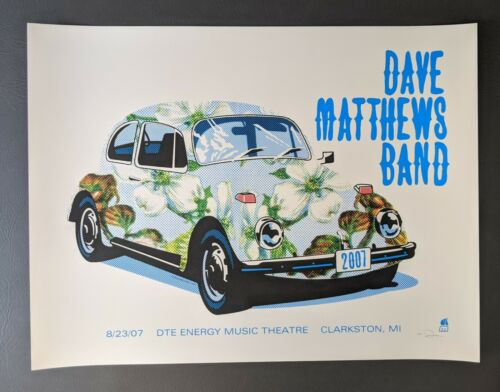 Dave Matthews Band DMB Poster 8/23/07 DTE Energy Music Theatre Clarkson MI
