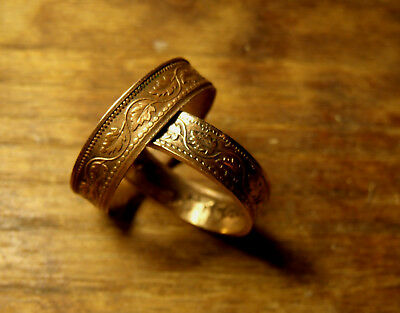 Maple Leaf Copper Coin Ring. Made for you! Sizes-  4, 5, 6, 7, 8, 9, 10, 11, 12,