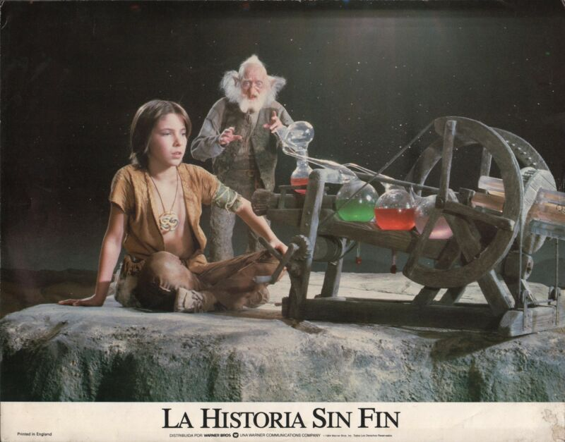 "NOAH HATHAWAY in ""The Neverending Story"" - Original Vintage LOBBY CARD - 1984"