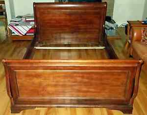Queen Sized Solid Maple Sleigh Bed