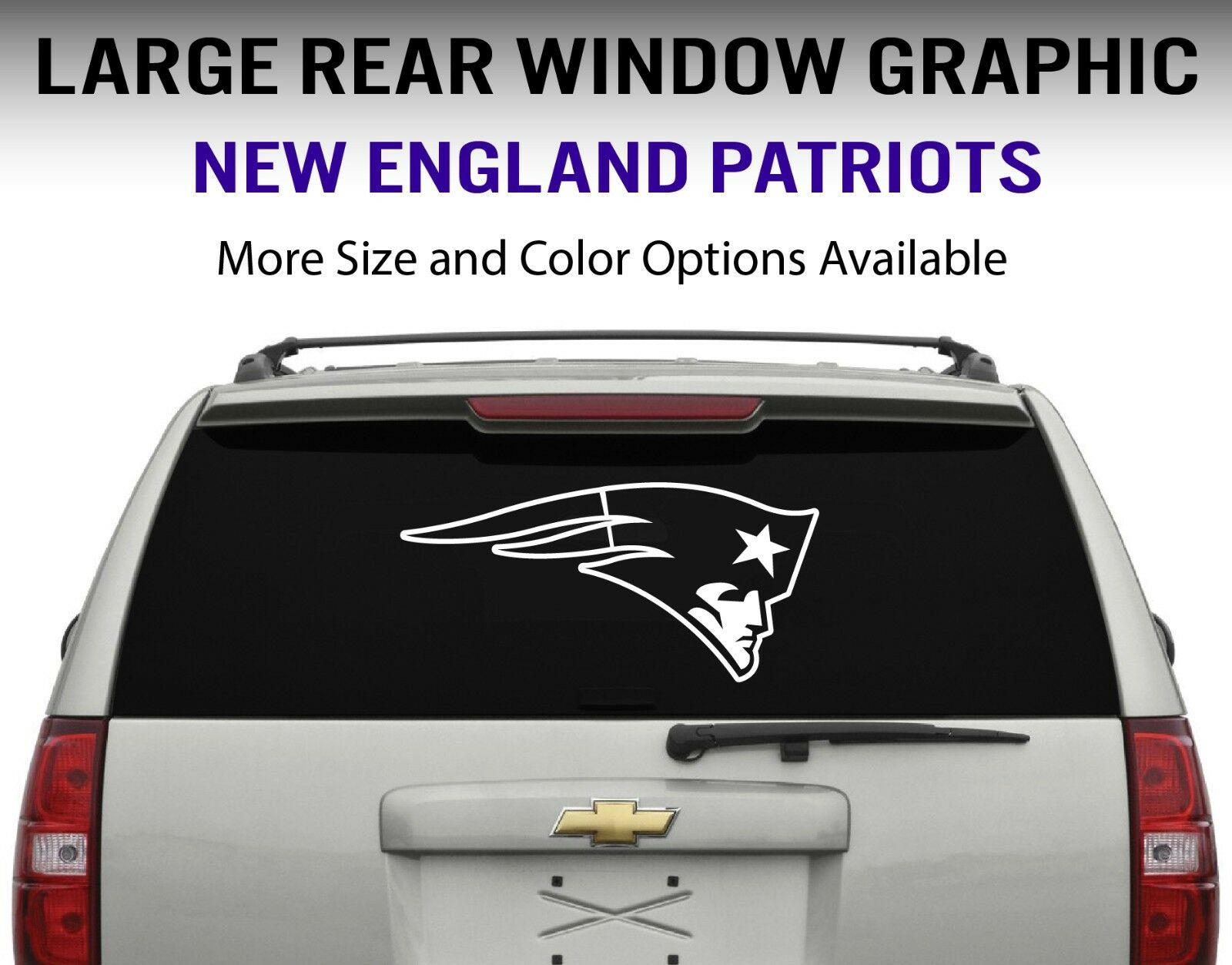 New England Patriots Window Decal Graphic Sticker Car