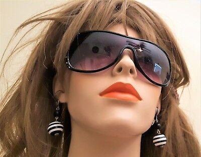 Girls Woman Fashion Eye wear Black Sunglasses multi crystals  (#546)