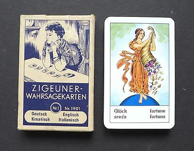 Vintage Gypsy Fortune Telling Oracle Cards Deck by Piatnik Zigeuner