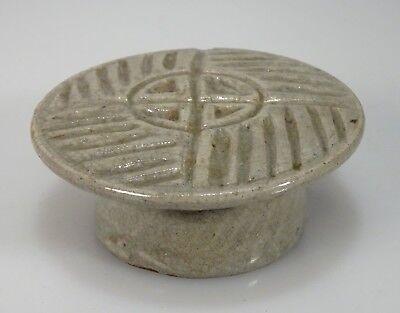 Korean Celadon Glazed Porcelain Rice Cake Stamp - 54797