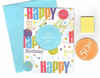 50th Birthday Party Invitations Set of 4 Hallmark Polka Dot 5