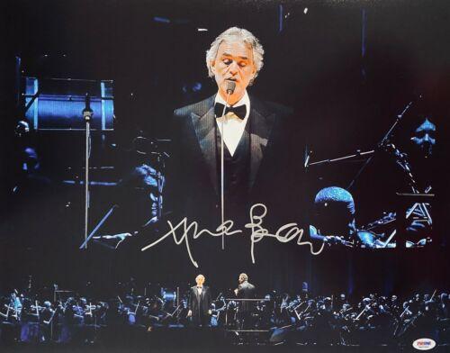"Andrea Bocelli Signed 11"" x 14"" Orchestra Photo PSA DNA COA"
