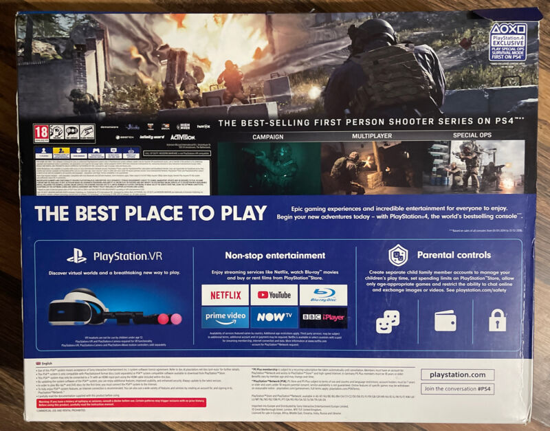 Sony+Playstation+4+PS4+Slim+Console+500Gb+Jet+Black+Brand+New