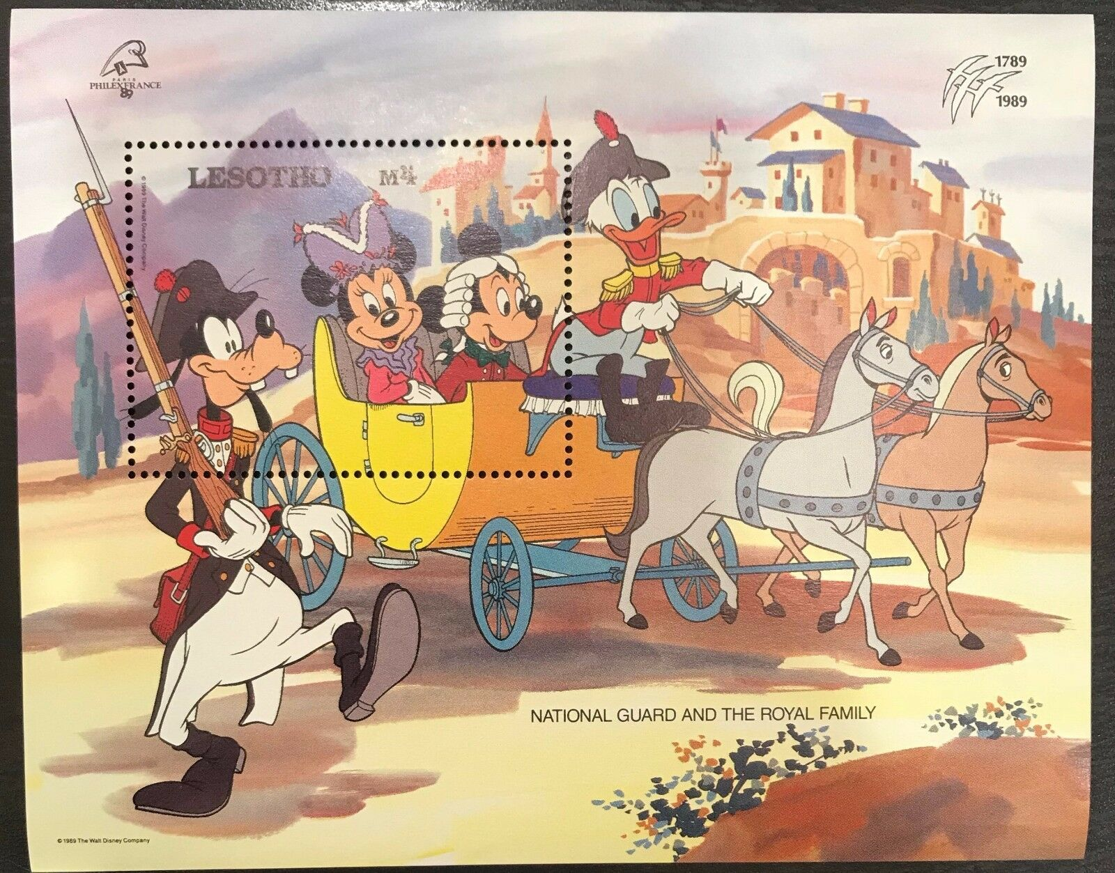 Lesotho- Disney National Guard & Royal Family - Souvenir Sheet